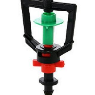 【灑水達人】2分放射型不旋轉噴頭100個一包(綠紅)