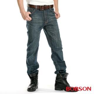 【BOBSON】男款伸縮直筒褲(藍1178A-53)