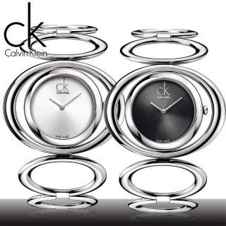 【瑞士 CK手錶 Calvin Klein】名媛最愛_簍空水滴造型女錶(K1P23102_K1P23120)