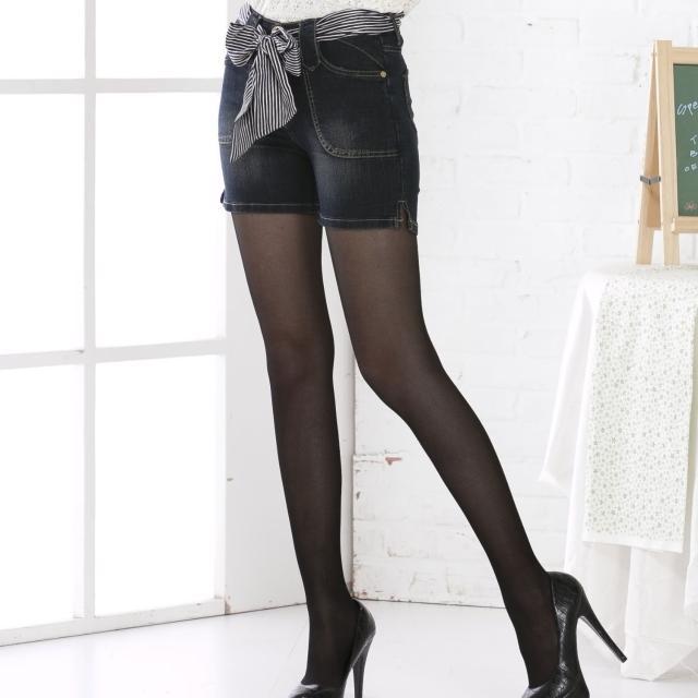 【RH】深藍牛仔心型口袋3分褲(牛仔3分褲全尺碼S-3L)