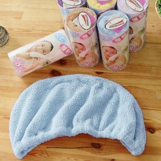 【米夢家居】台灣製造水乾乾SUMEASY開纖吸水紗-快乾護髮浴帽(藍+紫)