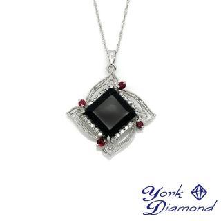 【約克鑽石】RECO設計款天然墨翠(14K金真鑽項鍊)