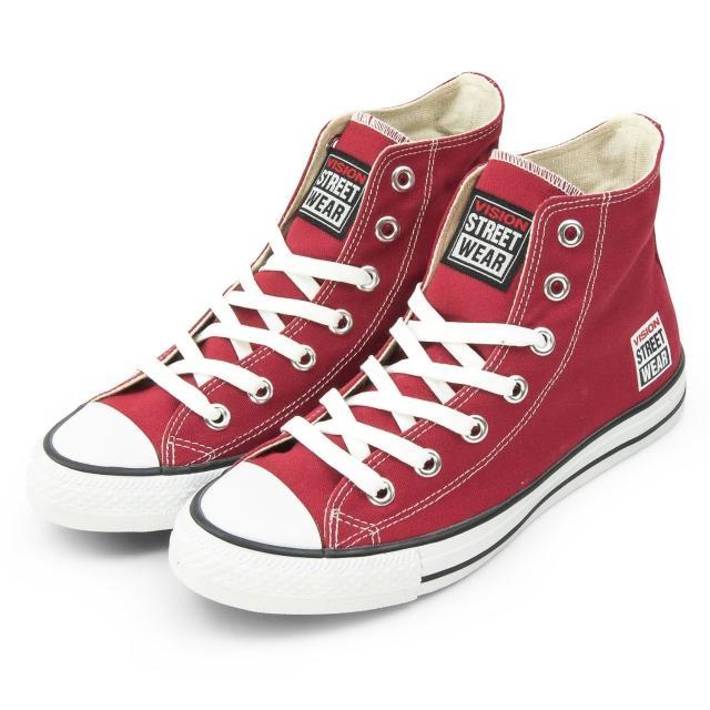 【VISION STREET WEAR】女 經典帆布鞋(棗紅 V22008)