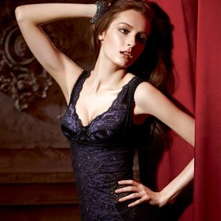 【La Felino】午夜情人全蕾絲緊致輕機能塑身衣(迷人黑)