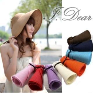 【I.Dear】韓版抗UV可折疊式 時尚遮陽帽(5色)