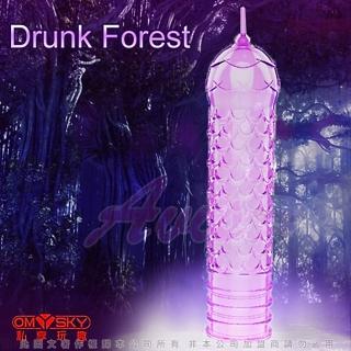 【omysky】魅動三重奏 超薄款 迷醉森林 水晶凸狀加長套(omysky00663)