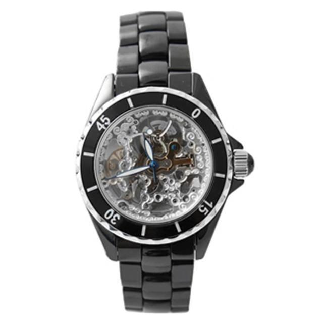 【范倫鐵諾˙古柏】自動上鍊機械精密全陶瓷腕錶 雙面鏤空手錶