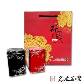 【首批冬茶】陳年老茶+阿里山清香型烏龍茶2件組(花開富貴手提袋)