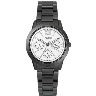 【LOVME】極品時尚三眼腕錶(IP黑x黑圈)
