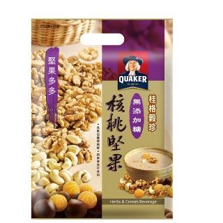 【桂格】穀珍堅果多多系列-無添加糖核桃堅果燕麥(27g*12入)