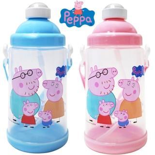 【佩佩豬】彈跳式吸管水壺650ml冷水壺-買1送1 兒童水壺(2入隨機)