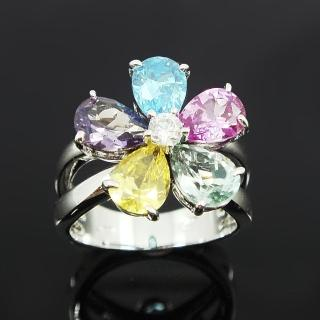 【Celosa名品-】愛的語言彩鑽戒指