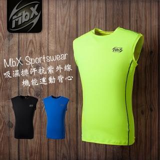 【MBX台灣製運動機能服】吸濕排汗抗紫外線動感背心(3件組)