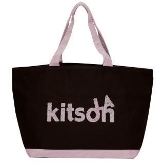 【Kitson】SPRINKLE帆布托特包(BROWN)