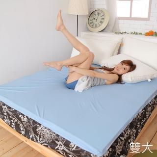 【Lust】6尺備長炭記憶床墊平面設計矽膠床墊日本原料附3M布套(備長炭記憶床墊)