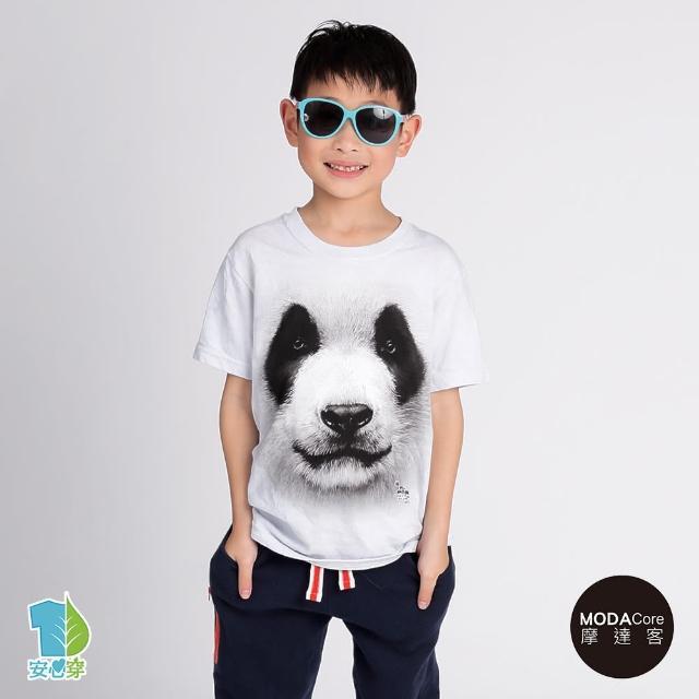 【摩達客-現貨】美國進口The Mountain 熊貓胖達臉 設計T恤產品介紹