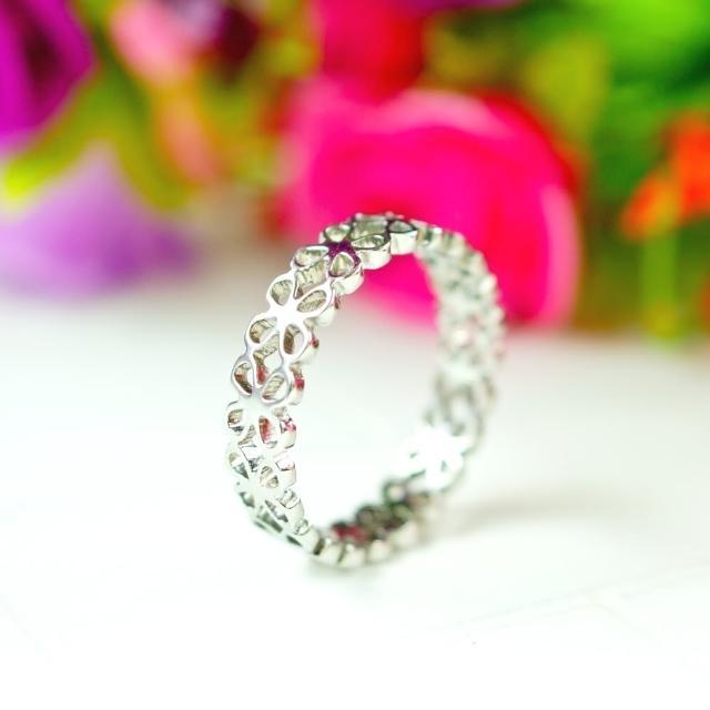 【E&I】-期待愛- 316L白鋼造型戒指(銀)試用文
