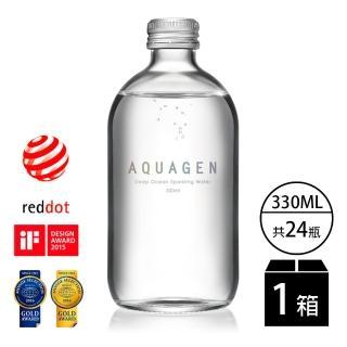 【AQUAGEN】海洋深層氣泡水-經典原味(金馬獎唯一指定氣泡水330mlx24入)
