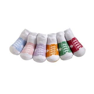 【美國 Jazzy Toes】時尚造型棉襪/止滑襪/假鞋襪_六入禮盒組_女款運動造型襪(JT6-13)