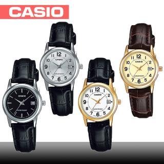 【CASIO 卡西歐】日系-小徑面氣質指針淑女錶(LTP-V002GL_LTP-V002L)