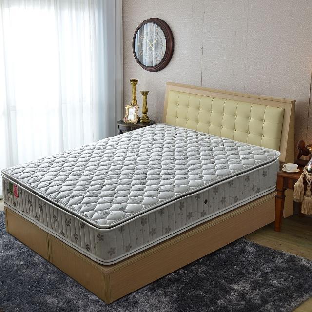 【睡芝寶】正四線竹碳紗-護邊-蜂巢獨立筒床墊(雙人5尺)
