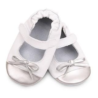 【shooshoos】安全無毒真皮健康手工學步鞋/嬰兒鞋/室內鞋/室內保暖鞋__銀白芭蕾_VWH80(公司貨)