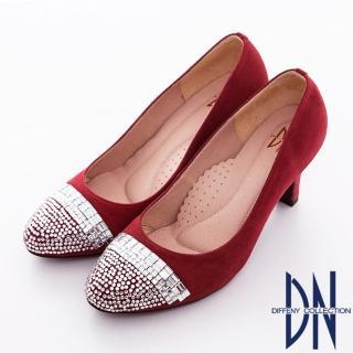【DN】美人心機 華麗亮片水鑽麂皮高跟鞋(紅)