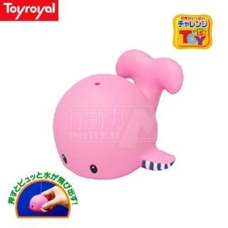 【日本《樂雅 Toyroyal》】洗澡玩具(軟膠鯨魚)
