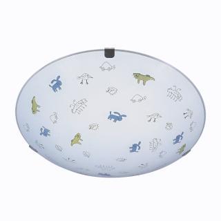 【華燈市】塗鴉世界4+1玻璃吸頂燈(童趣塗鴉風)