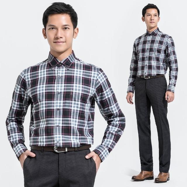 【Christian】大格紋休閒襯衫_黑灰白粉(RW356-85)如何購買?