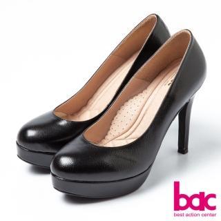 【bac】bac純真童話-羊皮霧面素雅高跟鞋(黑)