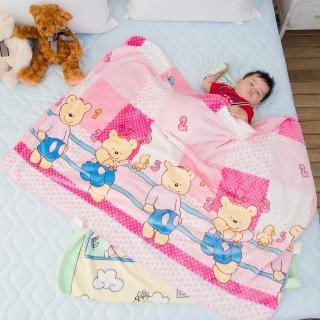 【eyah】頂級超舒柔雙面雪貂絨童毯/嬰幼兒毯(熊熊世界-粉)