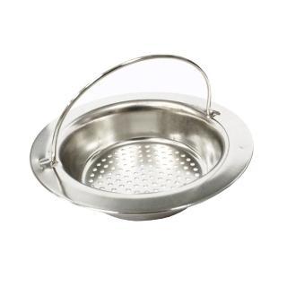 【PUSH! 廚房用品】外徑11CM內徑8CM深度2.5CM 提籃式不鏽鋼流理台水槽濾網(HD1011)