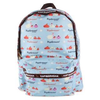 【kapibarasa】水豚君甜點系列後背背包(藍色)
