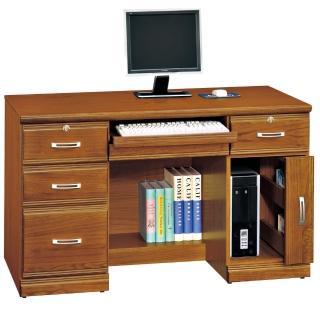 【時尚屋】雅安樟木實木4.2尺五抽電腦桌(259-4)