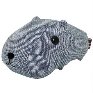 【kapibarasa】水豚君格紋系列盒裝公仔(藍色)