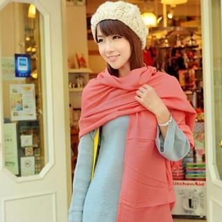 【轉行賣絲巾】純色圍巾 柔軟保暖批肩(粉色009EL)