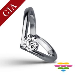 【彩糖鑽工坊】GIA 1克拉 F/VS2 18K鑽戒(北極光頂級車工鑽石)