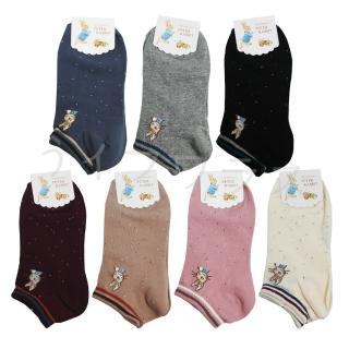 【比得兔】比得兔提花少淑女船型襪-12雙入(SK3418/3419/3420)