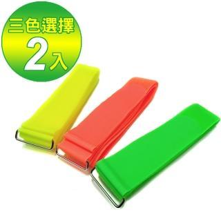 【螢光色寬版5*200cm】台灣製魔鬼沾行李帶 打包帶 束帶(二入)