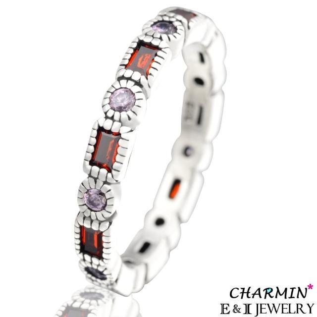 【E&I】CHARMIN -紅色情迷-純銀彩鑽戒指便宜賣