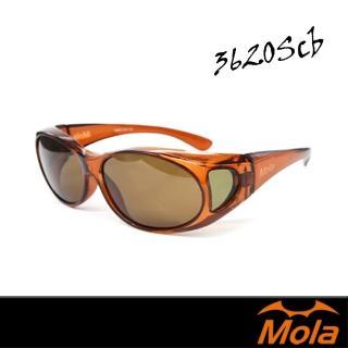 【MOLA 摩拉】包覆式偏光太陽眼鏡 套鏡 近視 老花(3620Scb)