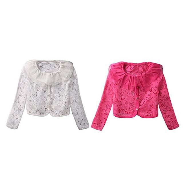 【baby童衣】外套 蕾絲領簍空單排扣外套 53003(共二色)