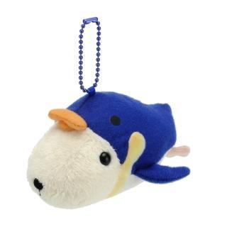 【kapibarasa】水豚君海洋便裝系列公仔吊飾(懷特小姐)
