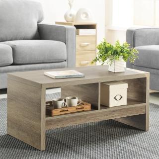 【FUN生活】DIY經典設計優雅小茶几桌/邊桌(深橡色)