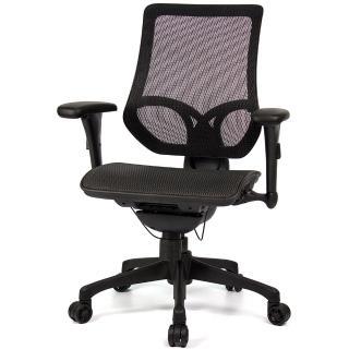 【aaronation 愛倫國度】D7系列-線控式辦公椅(JQ-D7-黑網-尼龍腳)