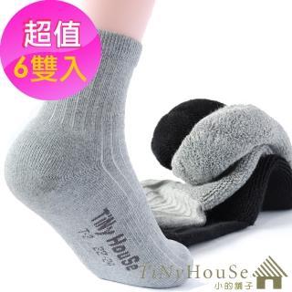 【TiNyHouSe小的舖子】舒適襪 厚底運動襪 超值6雙組入(M/L號 T-02)