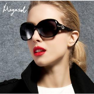 【MEGASOL】寶麗萊UV400偏光太陽眼鏡(設計師晶鑽款MS4126-5色任選)