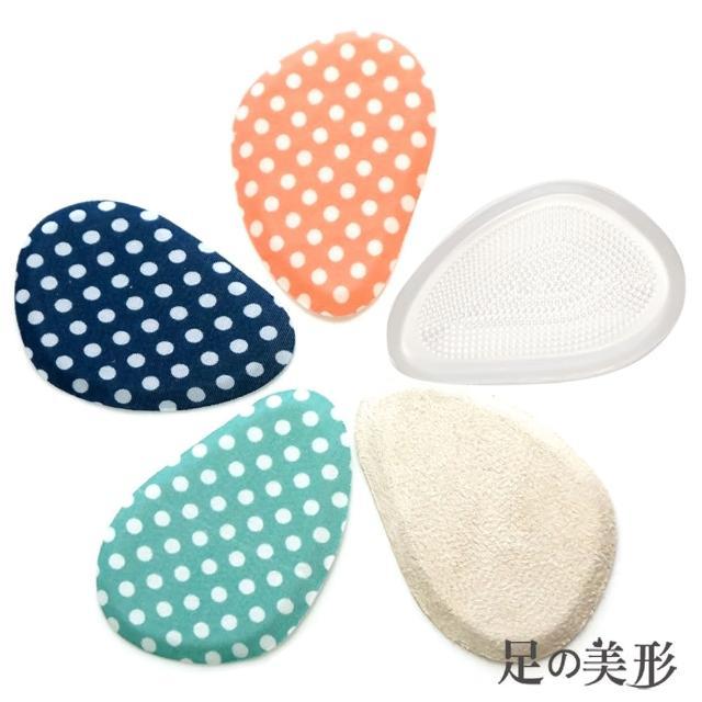 【足的美形】彩點系列-前掌布面矽膠墊(3雙)