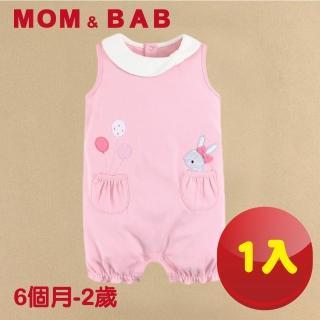 【MOM AND BAB】氣球小兔純棉無袖兔裝-單件組(6M-2T)